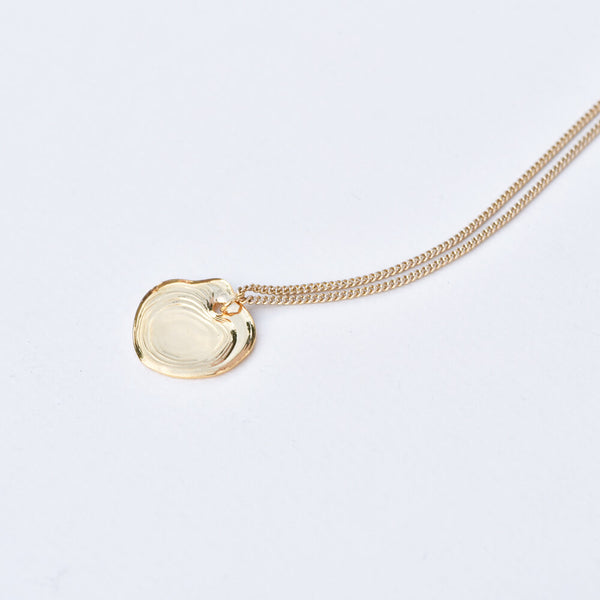 Gold Heart Puddle Pendant