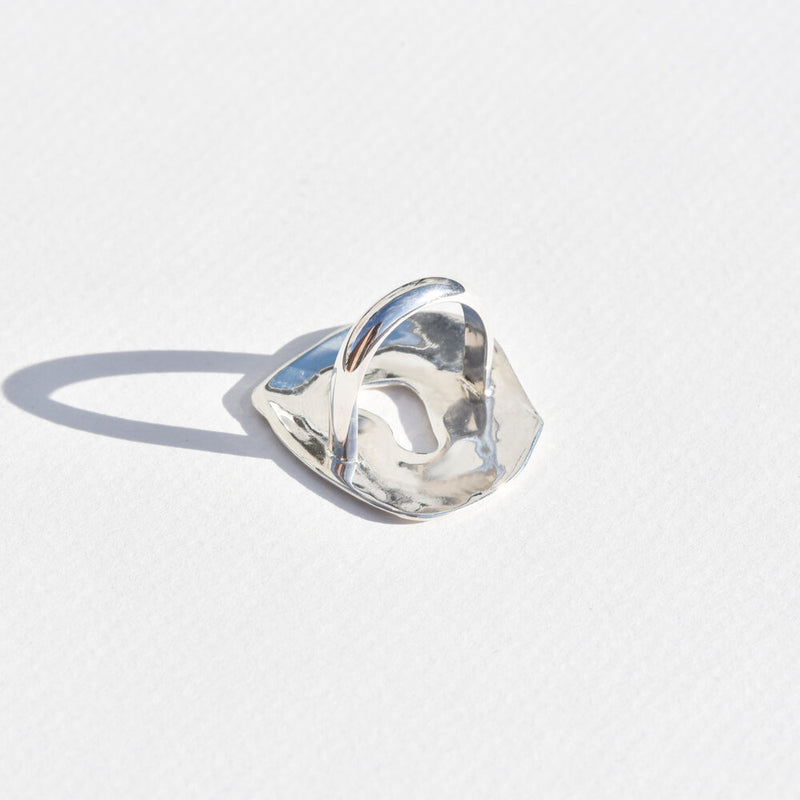 Sterling Silver Whirlpool Ring