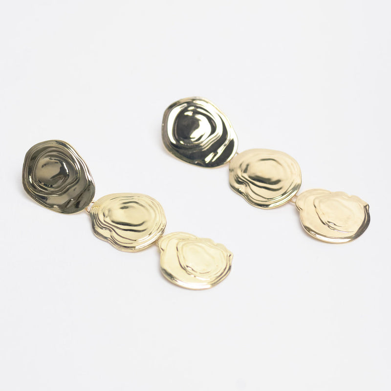 Brass On The Halfshell Earrings