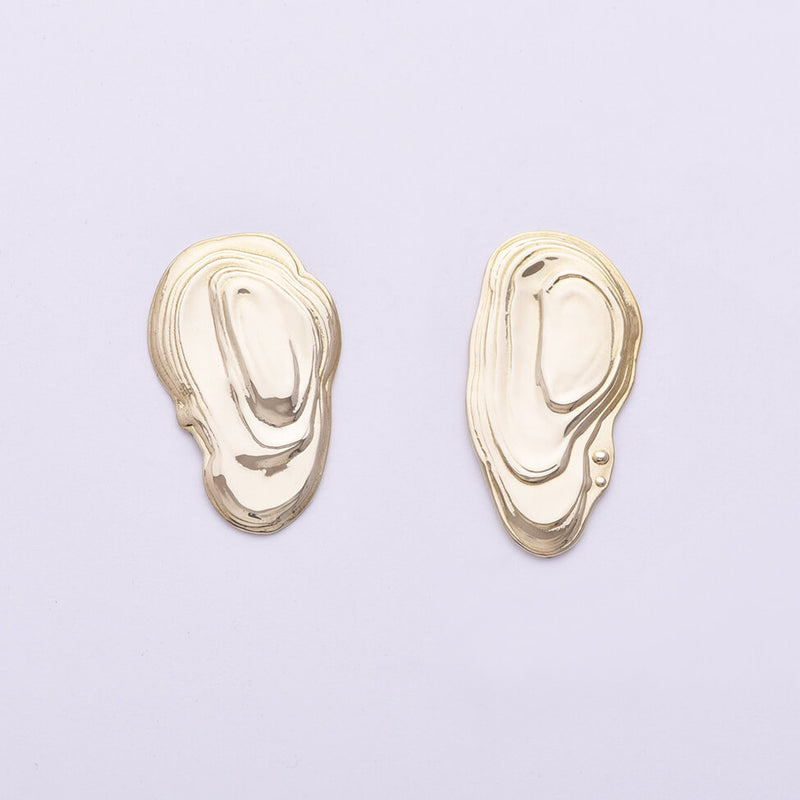 Brass Ostra Earrings