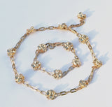 Gold-Plated Poppy Chain Bracelet