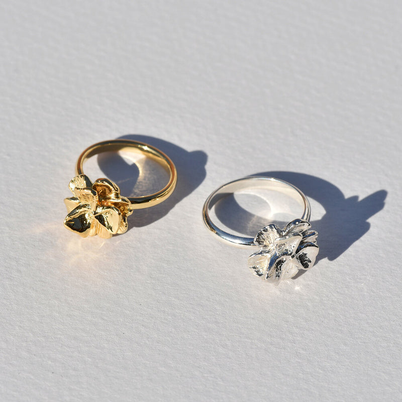 Gold-Plated Poppy Ring