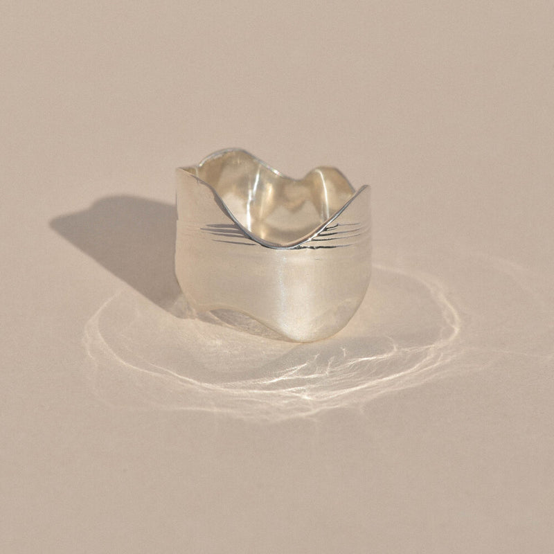 Sterling Silver New Wave Ring