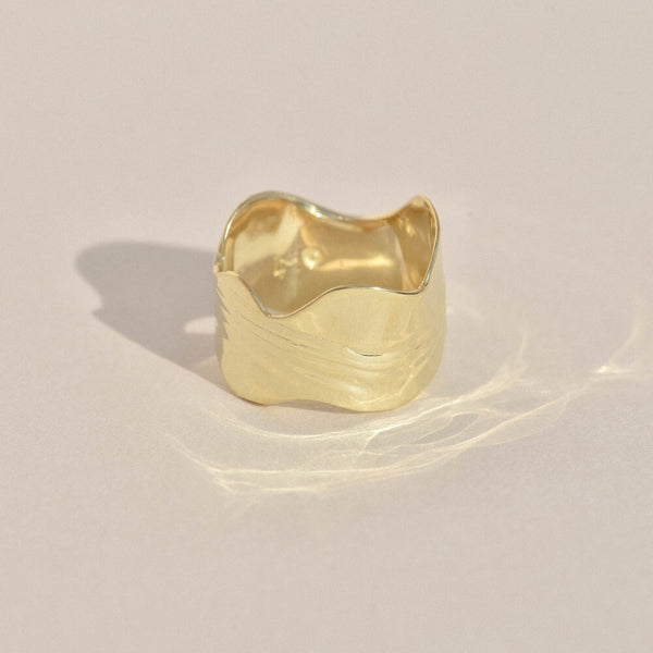 Brass New Wave Ring