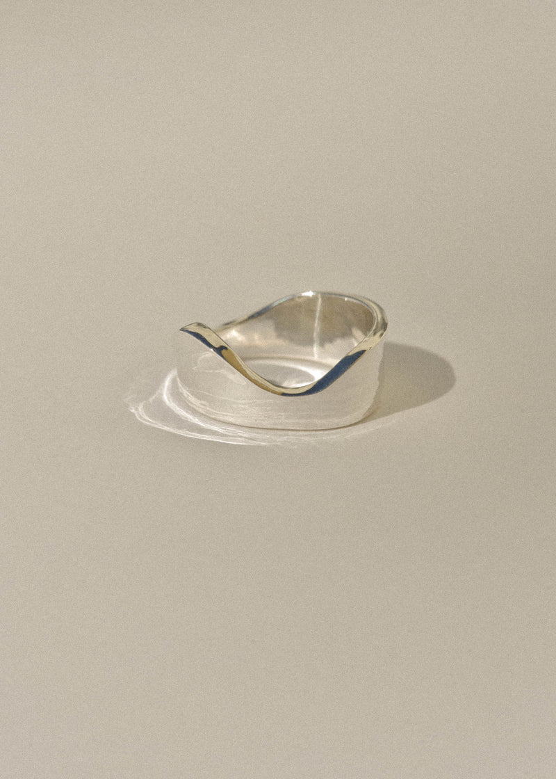 Sterling Silver Short Wave Ring
