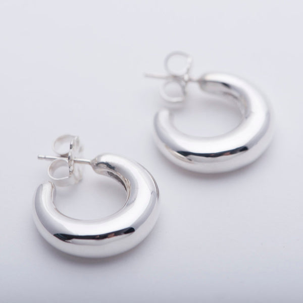 Sterling Silver Mini Bubble Hoops