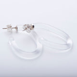 Small Clear Glass Hoops