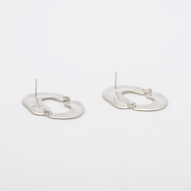 Sterling Silver Swish Hoops