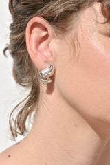 Sterling Silver Dollop Studs