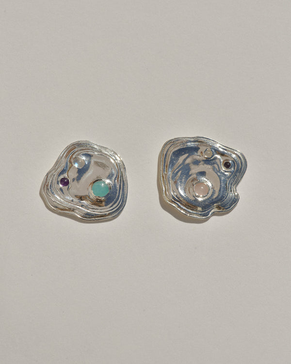 Sterling Silver Lava Studs