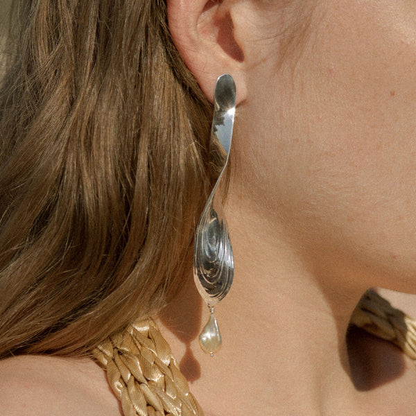 Sterling Silver Torque Earrings