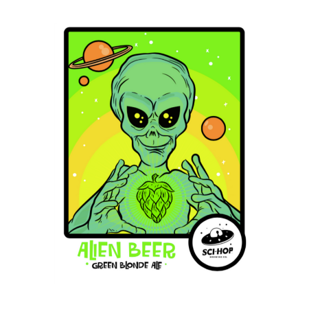 Alien Beer  Green Blond Ale (cheve verde)