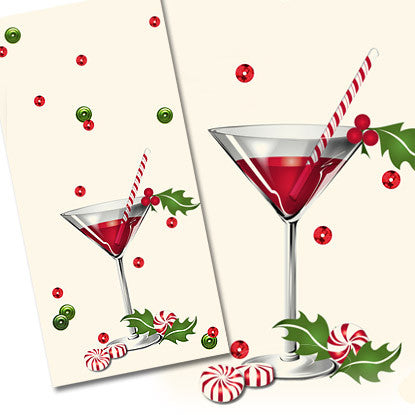 Confetti Celebrations Holiday Martini Imprintable