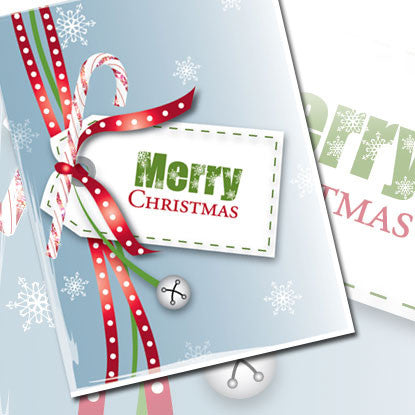 Holiday Chic Merry Christmas Note Card (Boxed Set of 8)