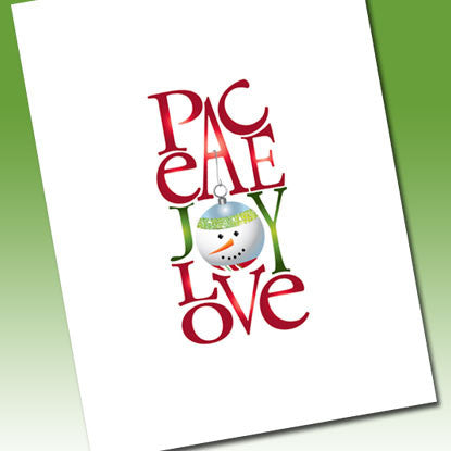 Holiday Chic Peace Love & Joy Note Card (Boxed Set of 8)