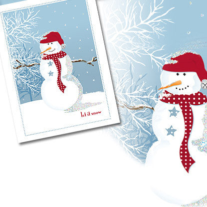 Holiday Chic Snowman