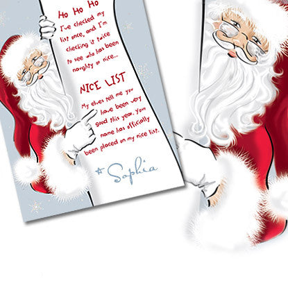 Holiday Chic Note Card from Santa