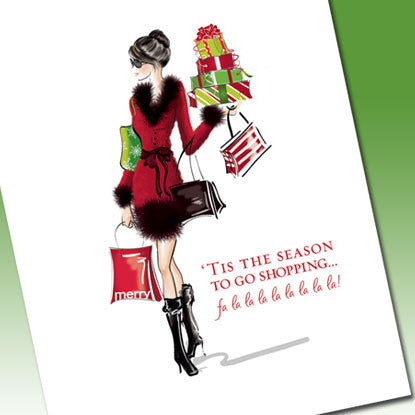 Holiday Chic Savvy Shopper (Boxed Set of 8)