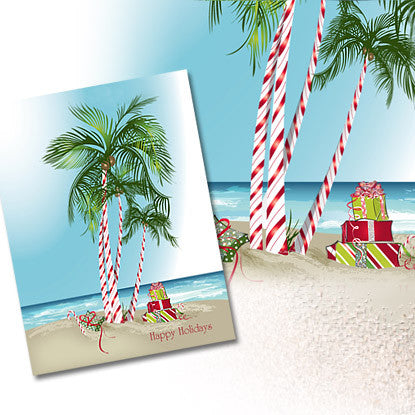 Holiday Chic Tropics Note Card