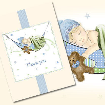 Très Chic Baby Boy Thank You Note Card