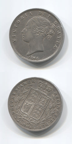 1874 Halfcrown GVF