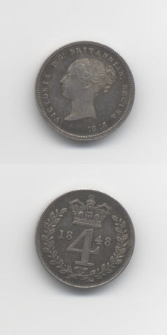 1848 Maundy Fourpence UNC