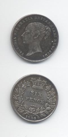 1866 Die 36 Sixpence AEF