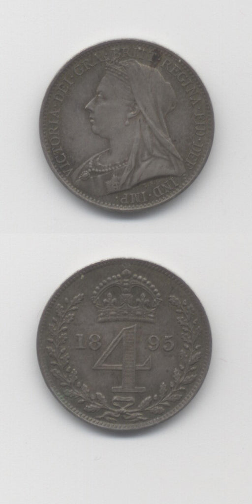 1895 Maundy Fourpence UNC