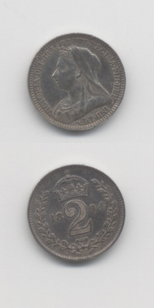 1894 Maundy Twopence UNC