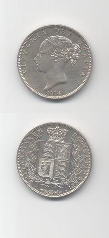 1874 Halfcrown UNC
