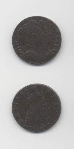 1694 Farthing Double Exergue Line AVF