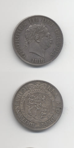 1818 Halfcrown UNC