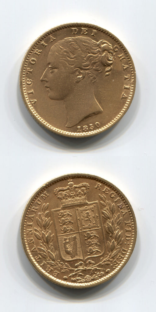 1850 Sovereign Roman One in date GVF
