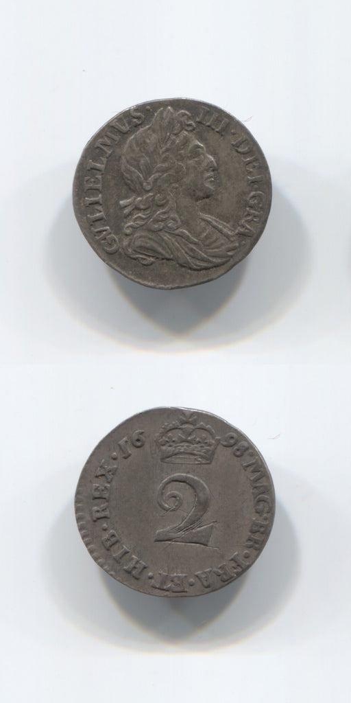 1698 William 3 Twopence AEF