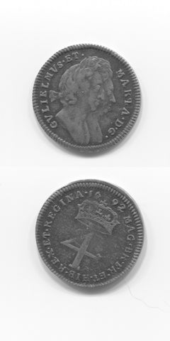 1692  W & Mary Fourpence MARIA Type AEF