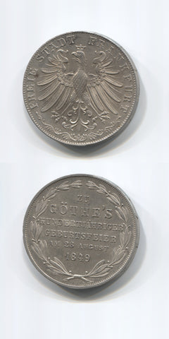 1849 Frankfurt Am Main 2 Gulden AUNC