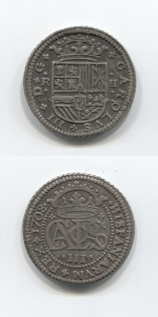 1708 Spain Silver 2 Reales GVF