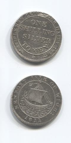 1811 Hants Newport Isle Of Wight Shilling AEF