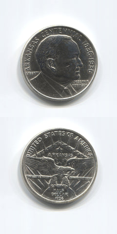 1936 USA Silver 1/2 Dollar Arkansas GEF/UNC