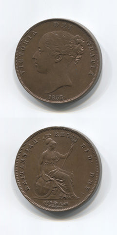 1858/7 Penny UNC