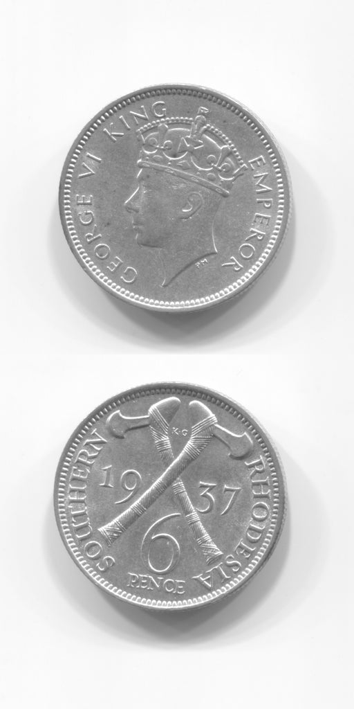 1937 Southern Rhodesia Sixpence UNC
