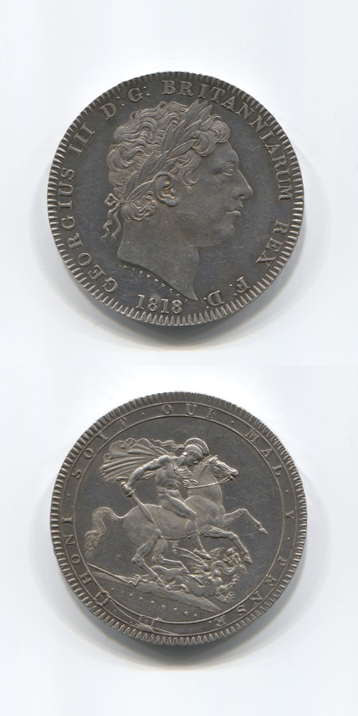 1818 LIX Crown Error Edge AUNC