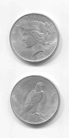 1923 USA Silver Peace Dollar UNC/AUNC