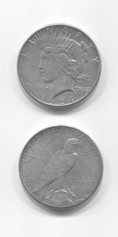 1924 S USA Silver Peace Dollar EF