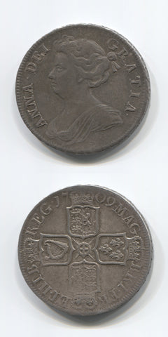 1709 Anne Halfcrown AEF
