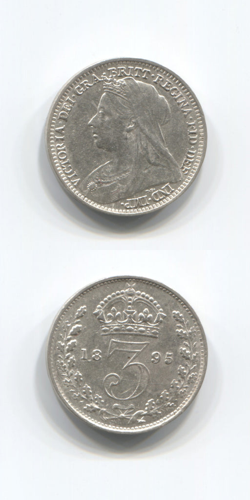 1895 Silver Threepence AUNC