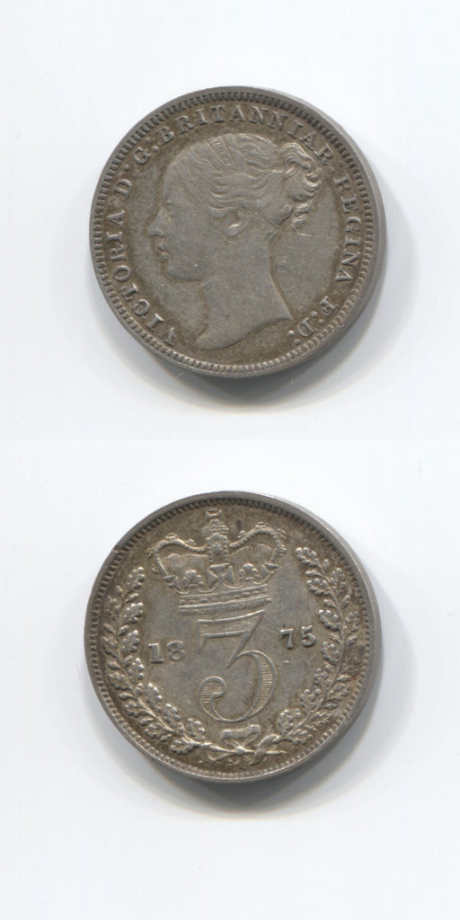 1875 Silver Threepence AUNC