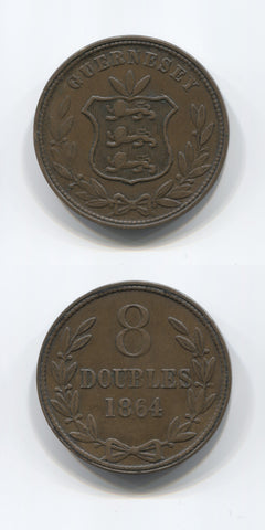 1864 Guernsey 8 Doubles AEF