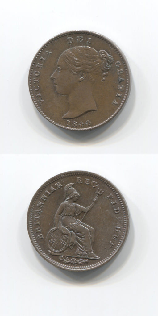1844 1/3rd of1/4d UNC