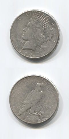 1922 S USA Silver Peace Dollar EF